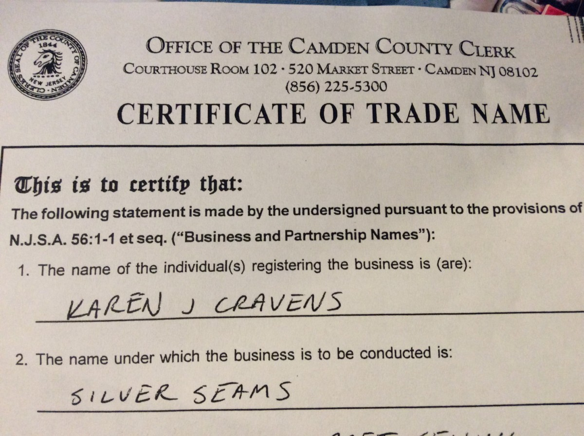 Certificate of Trade Name