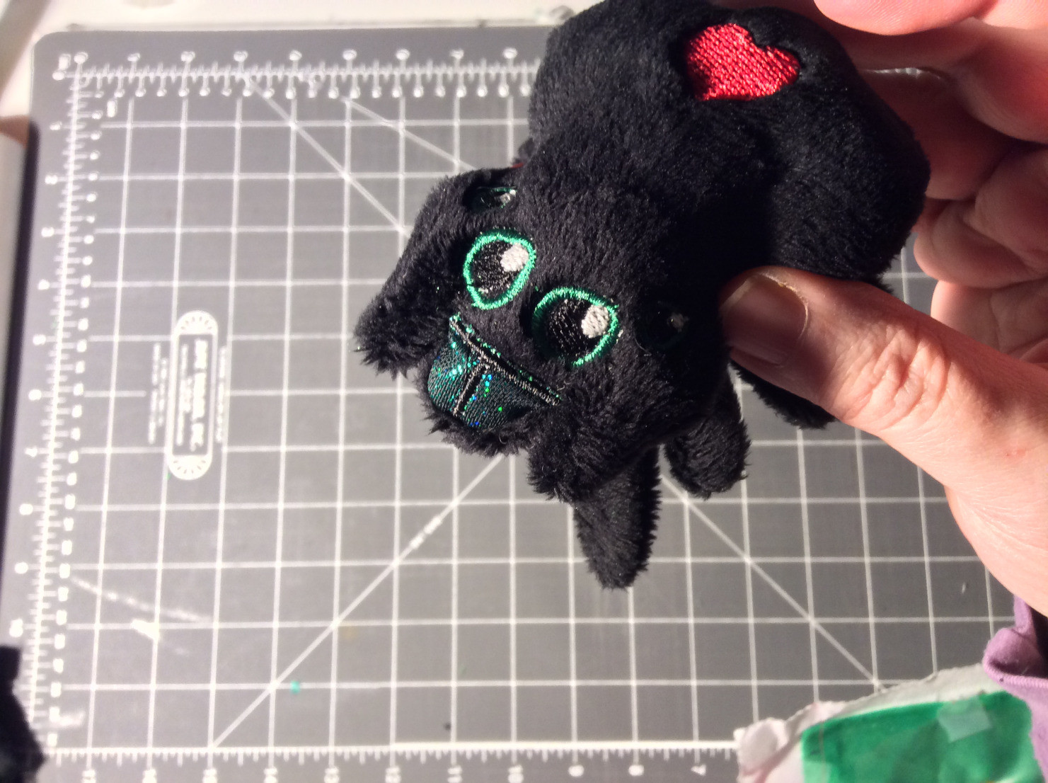 Plush Jumping Spider face