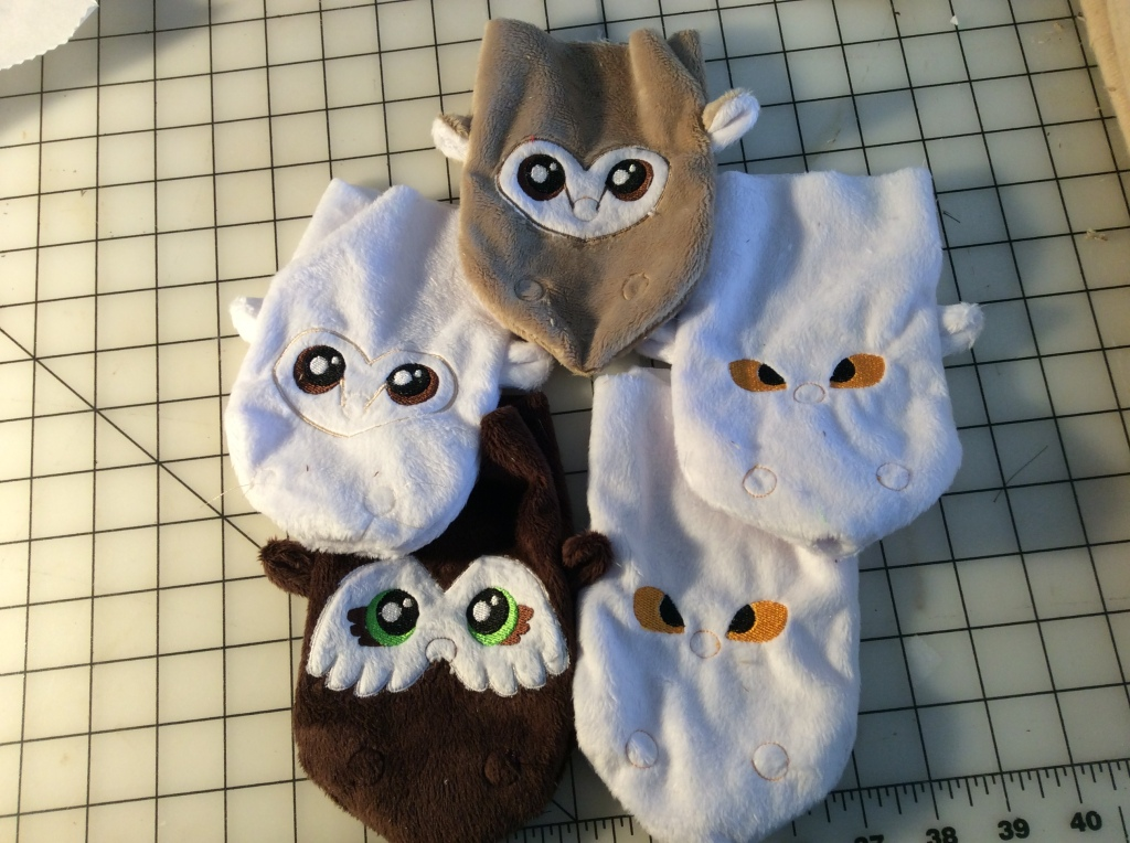 Owlbear dice bags in progress
