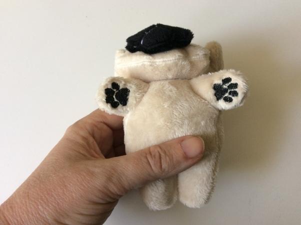 Plush pug underside.