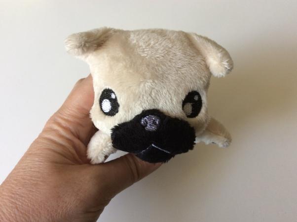 Plush pug face